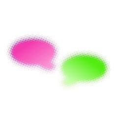 halftone bubbles vector image vector image
