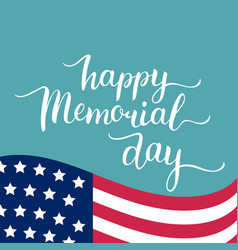 happy memorial day card national american vector image vector image