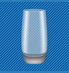 highball glass concept background realistic style vector image