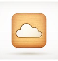 icon cloud vector image vector image