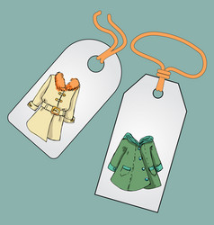 Label badge price tag with the image of vector