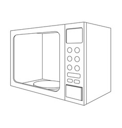 Microwave oven outline drawing vector