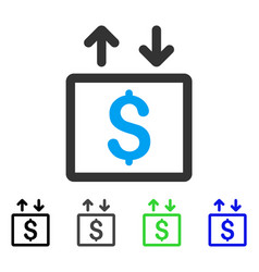Money elevator flat icon vector