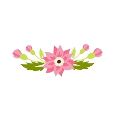 Nature flowers wreath decoration vector image vector image