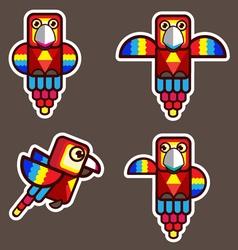 Parrot bird abstract cartoon vector