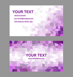 Purple rectangle design business card template vector