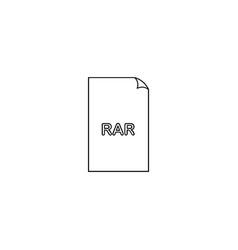Rar compression document file format flat icon vector