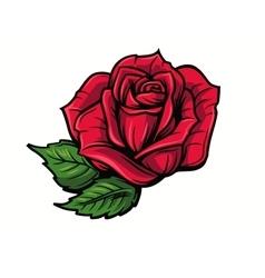 Red rose cartoon vector
