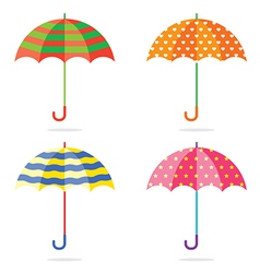 Set Of Different Colorful Umbrellas vector image