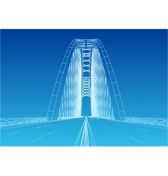 Silhouette of golden gate bridge vector image