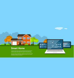 Smart home concept vector