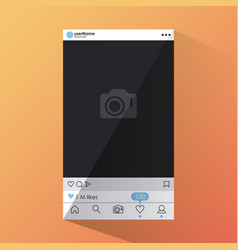 social network smartphone interface vector image