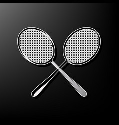 Two tennis racket sign gray 3d printed vector