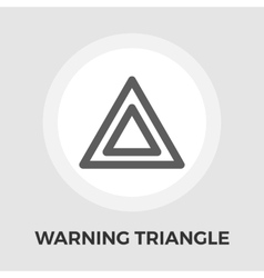Warning triangle flat icon vector image vector image