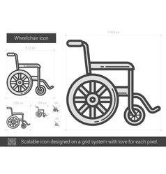 Wheelchair line icon vector