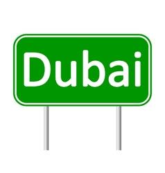 Dubai road sign vector