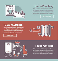 house plumbing and plumber fixture web vector image