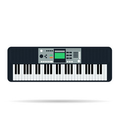 isolated flat icon of musical keyboards vector image