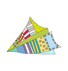 A paper plane is placed vector