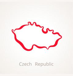 Czech republic - outline map vector