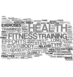 Fitness and health text background word cloud vector