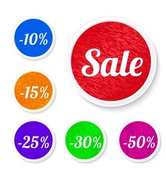 Promo sale stickers vector