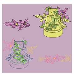 wedding cakes vector image