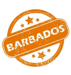 Barbados grunge icon vector