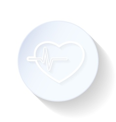 Heartbeat thin lines icon vector
