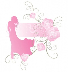 Roses girl curves vector