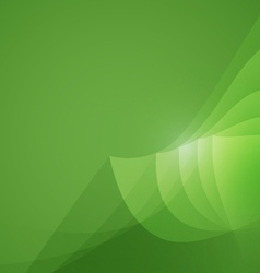 Abstract shape green background vector