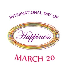 Day of happiness card for web vector