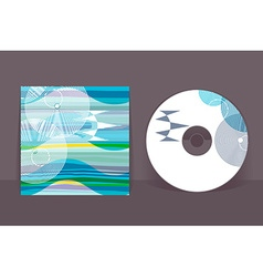 Cd cover design template abstract pattern graphics vector