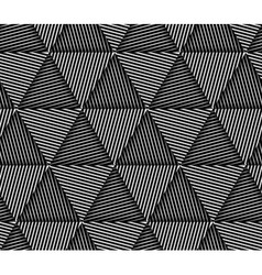 Abstract Striped Triangles Geometric Seamless vector image vector image