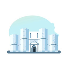Building castel del monte located on small hill vector