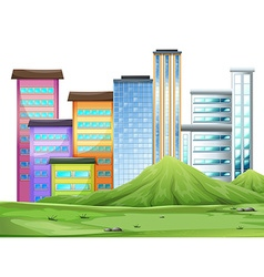 Buildings in the town vector