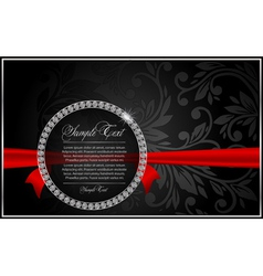 diamond and ribbon vector image vector image