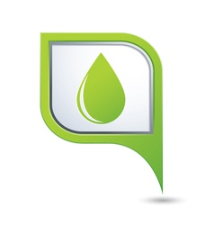 drop icon on green pointer vector image vector image