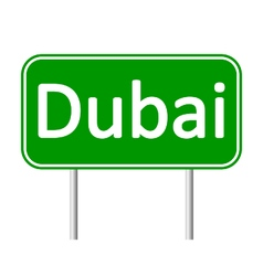 Dubai road sign vector