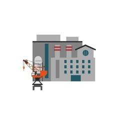 Factory and industrial crane icon vector