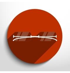 glasses web icon vector image