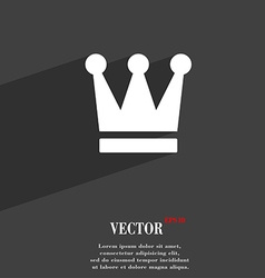 King crown icon symbol flat modern web design with vector