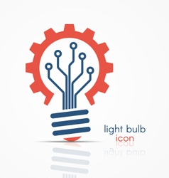 Light bulb idea icon with circuit board vector