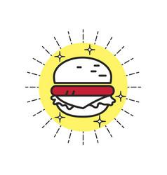 Linear icon burger vector