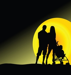 man and woman with baby vector image