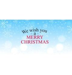 Merry christmas greetin vector