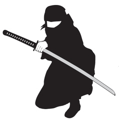 Ninja black vector image vector image