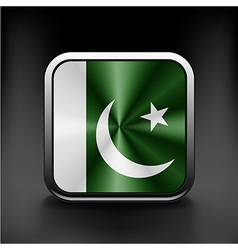 Pakistan national flag national travel icon vector