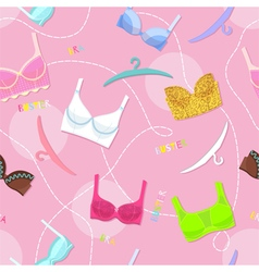 Seamless pattern with womens lingerie vector image vector image