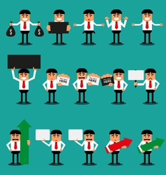 Set of office Businessman vector image vector image
